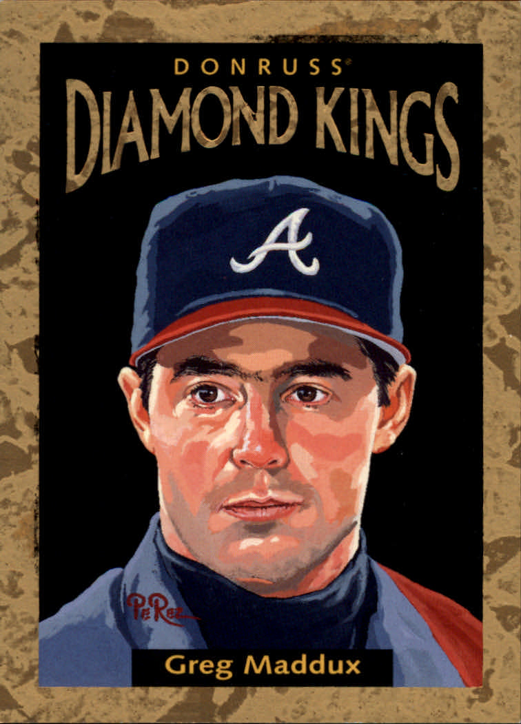 1996 Donruss Diamond Kings #15 Greg Maddux
