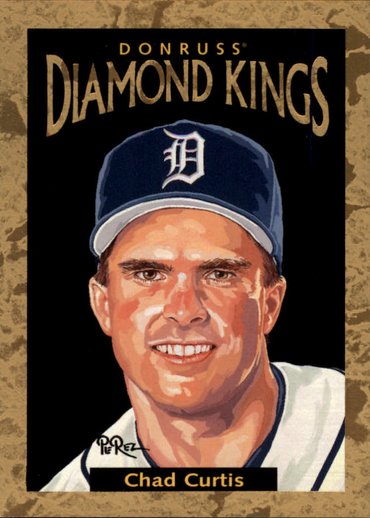 1996 Donruss Diamond Kings #18 Chad Curtis