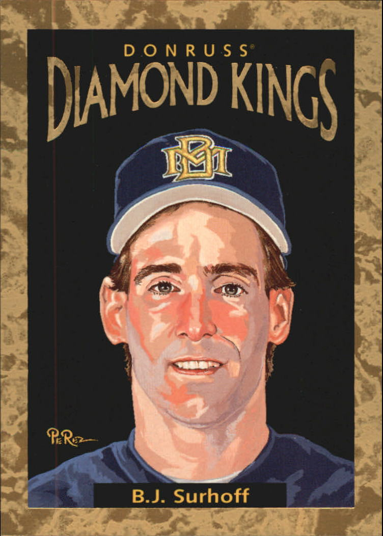 1996 Donruss Diamond Kings #20 B.J. Surhoff