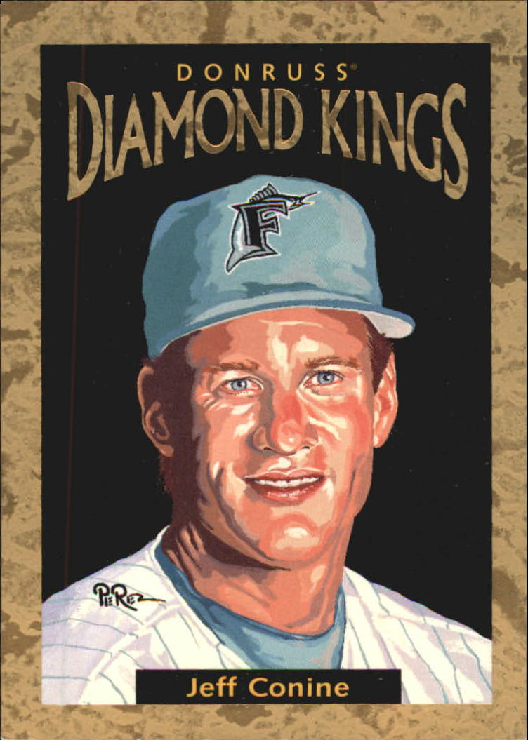 1996 Donruss Diamond Kings #21 Jeff Conine