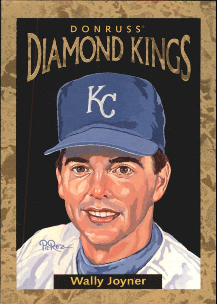 1996 Donruss Diamond Kings #24 Wally Joyner