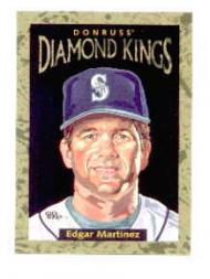 1996 Donruss Diamond Kings #26 Edgar Martinez