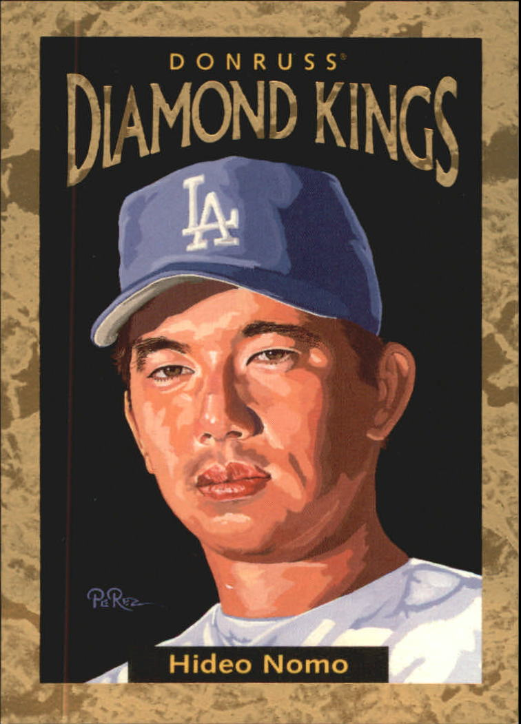 1996 Donruss Diamond Kings #27 Hideo Nomo