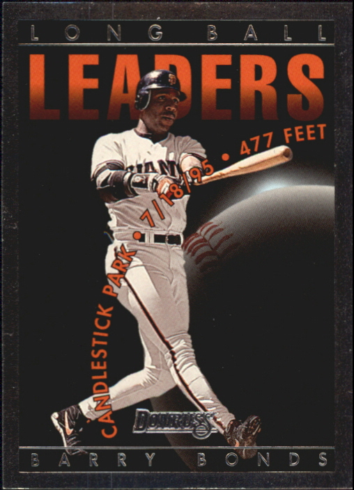1996 Donruss Long Ball Leaders #1 Barry Bonds front image