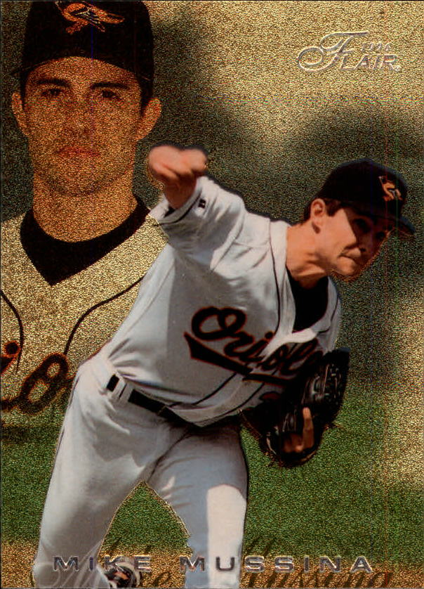 1996 Flair #9 Mike Mussina