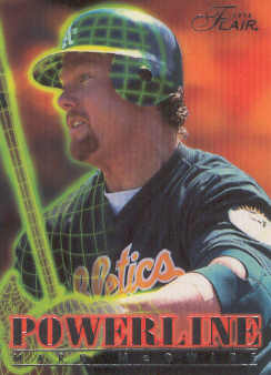 1996 Flair Powerline #5 Mark McGwire