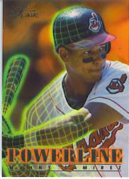 1996 Flair Powerline #7 Manny Ramirez