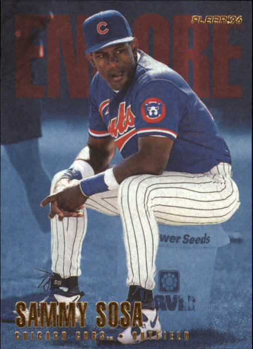 1996 Fleer Update #U242 Sammy Sosa ENC