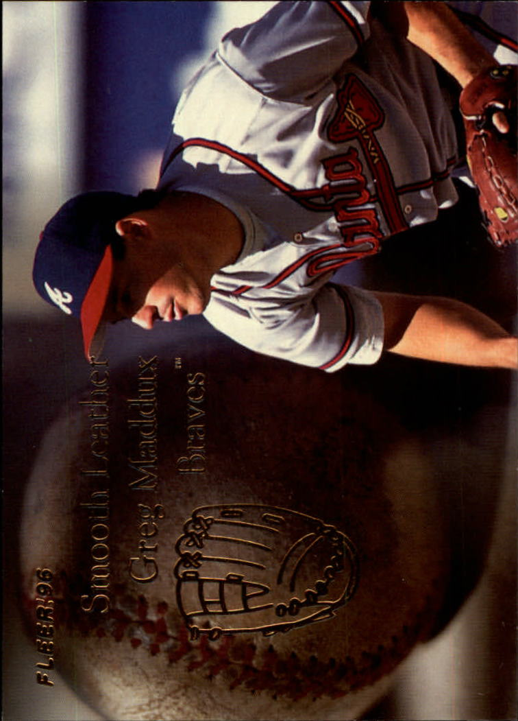 1996 Fleer Update Smooth Leather #6 Greg Maddux
