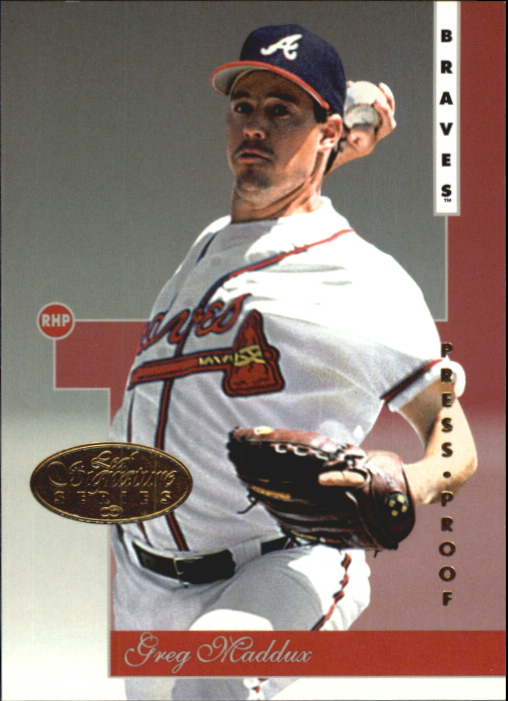 1996 Leaf Signature Gold Press Proofs #3 Greg Maddux