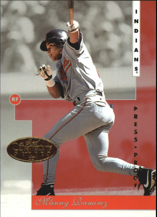 1996 Leaf Signature Gold Press Proofs #11 Manny Ramirez