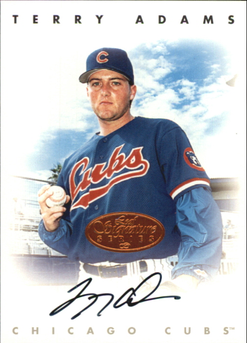 1996 Leaf Signature Autographs #3 Terry Adams