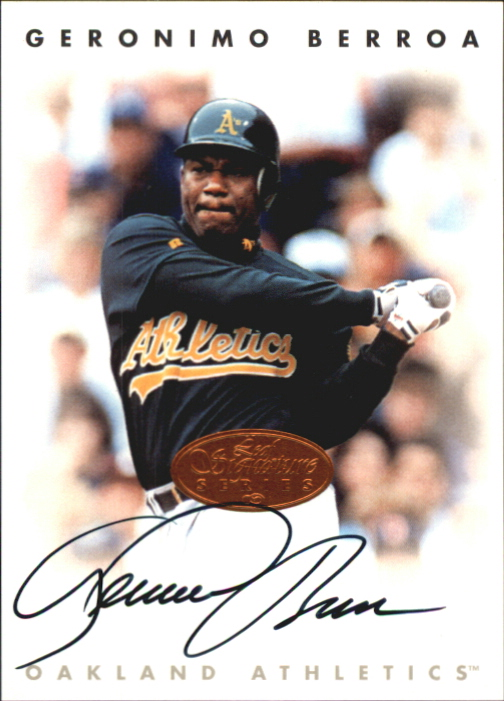 1996 Leaf Signature Autographs #24 Geronimo Berroa