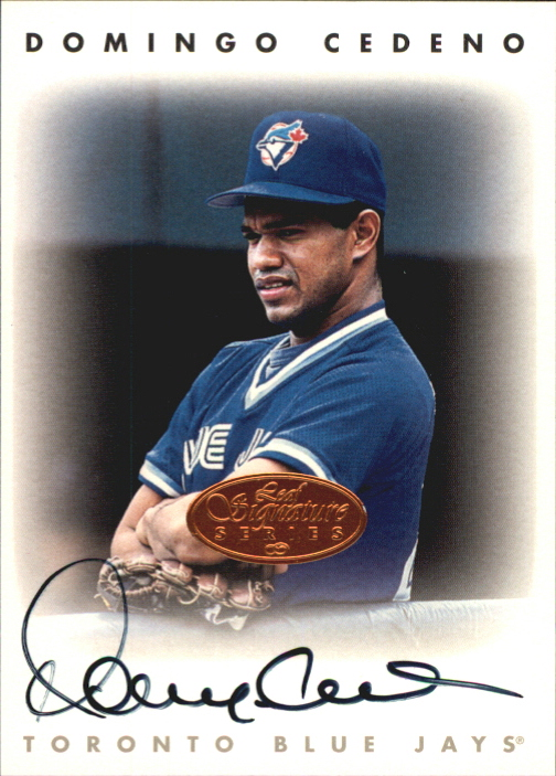 1996 Leaf Signature Autographs #42 Domingo Cedeno