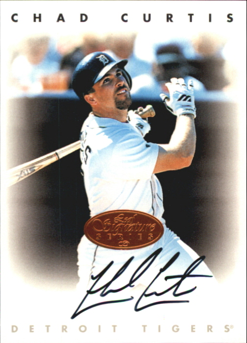 1996 Leaf Signature Autographs #53 Chad Curtis