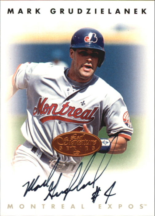 1996 Leaf Signature Autographs #86 Mark Grudzielanek