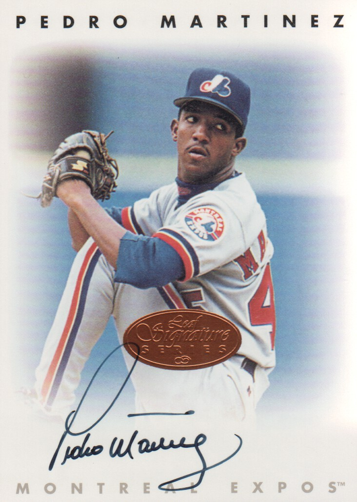 1996 Leaf Signature Autographs #146 Pedro Martinez