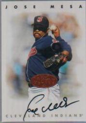 1996 Leaf Signature Autographs #154 Jose Mesa
