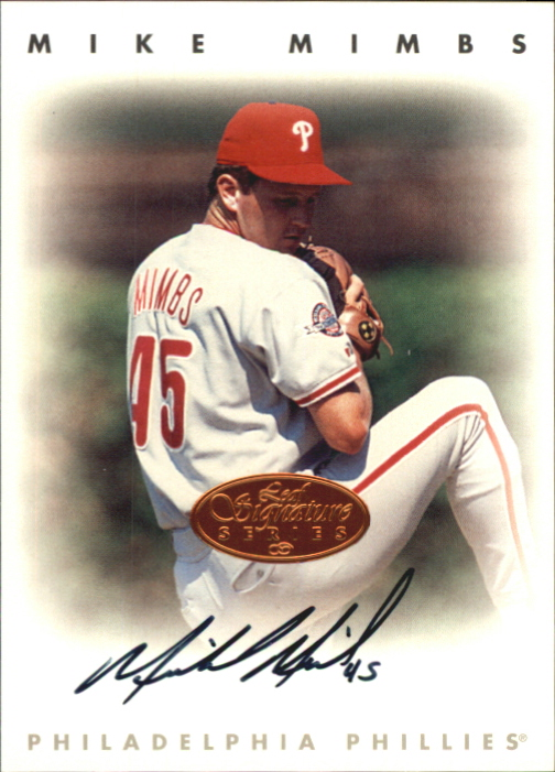 1996 Leaf Signature Autographs #157 Mike Mimbs