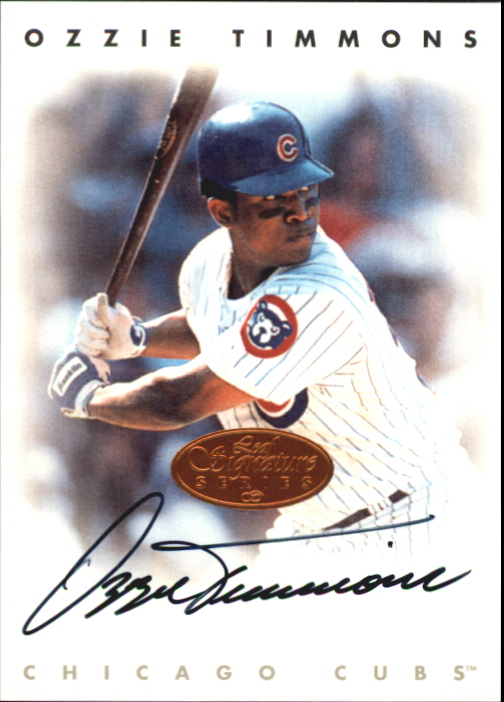 1996 Leaf Signature Autographs #224 Ozzie Timmons