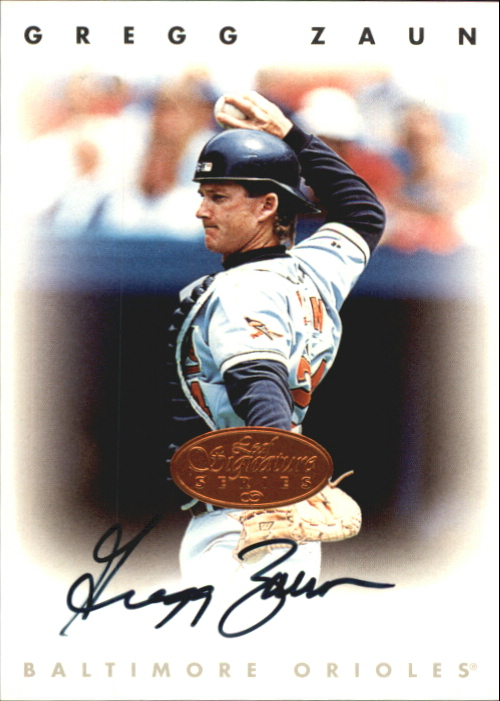 1996 Leaf Signature Autographs #252 Greg Zaun