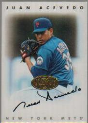 1996 Leaf Signature Autographs Gold #2 Juan Acevedo