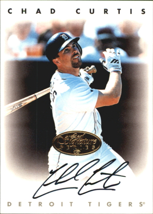 1996 Leaf Signature Autographs Gold #53 Chad Curtis