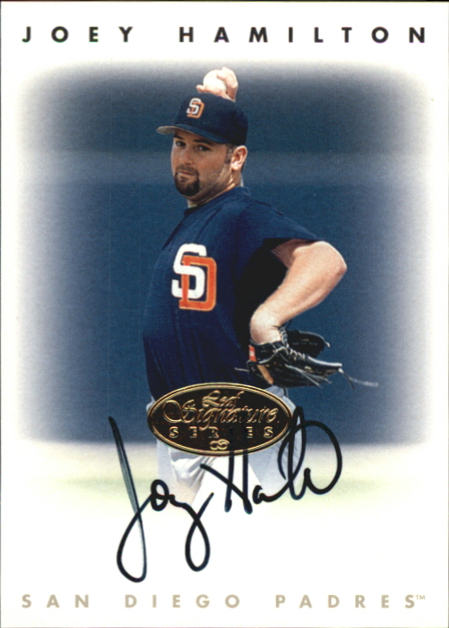 1996 Leaf Signature Autographs Gold #90 Joey Hamilton