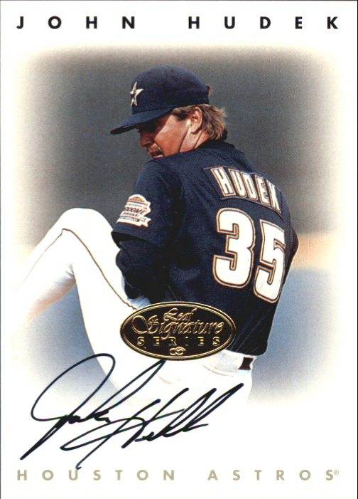 1996 Leaf Signature Autographs Gold #110 John Hudek