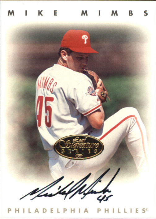 1996 Leaf Signature Autographs Gold #157 Mike Mimbs