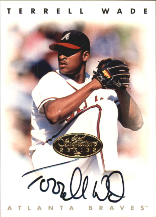 1996 Leaf Signature Autographs Gold #235 Terrell Wade