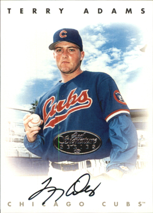 1996 Leaf Signature Autographs Silver #3 Terry Adams