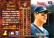 1996 Select #52 Jim Thome back image