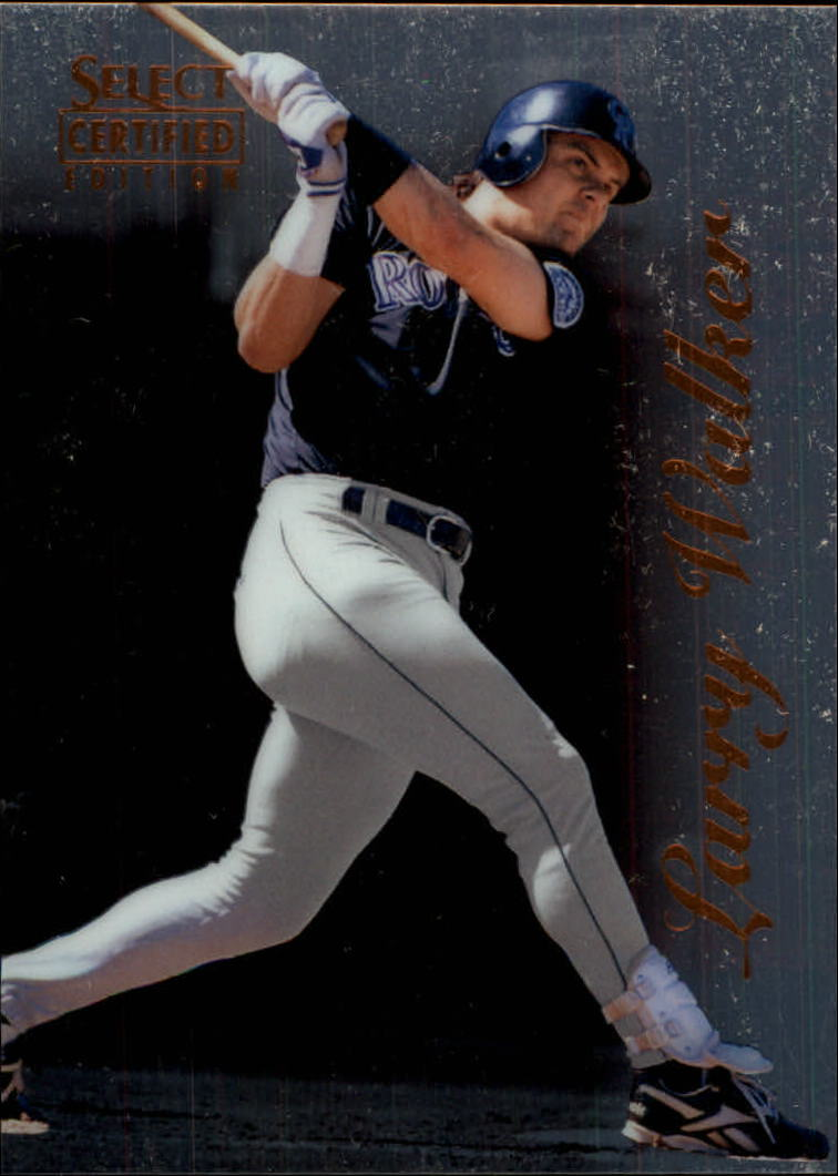 1996 Select Certified #85 Larry Walker