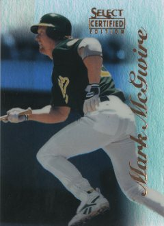 1996 Select Certified Mirror Blue #20 Mark McGwire