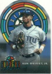 1996 Studio Stained Glass Stars #2 Ken Griffey Jr.