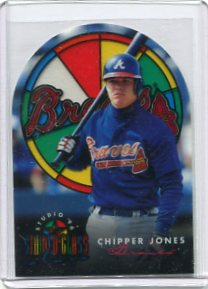 1996 Studio Stained Glass Stars #5 Chipper Jones