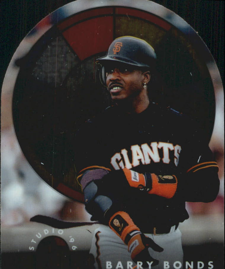1996 Studio Stained Glass Stars #10 Barry Bonds