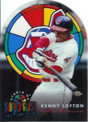 1996 Studio Stained Glass Stars #12 Kenny Lofton