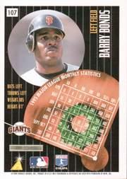 1996 Summit Artist's Proofs #107 Barry Bonds back image