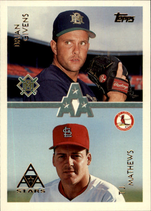 1996 Topps #102 B.Givens/T.J.Mathews
