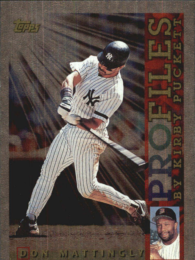 1996 Topps Profiles #AL17 Don Mattingly front image