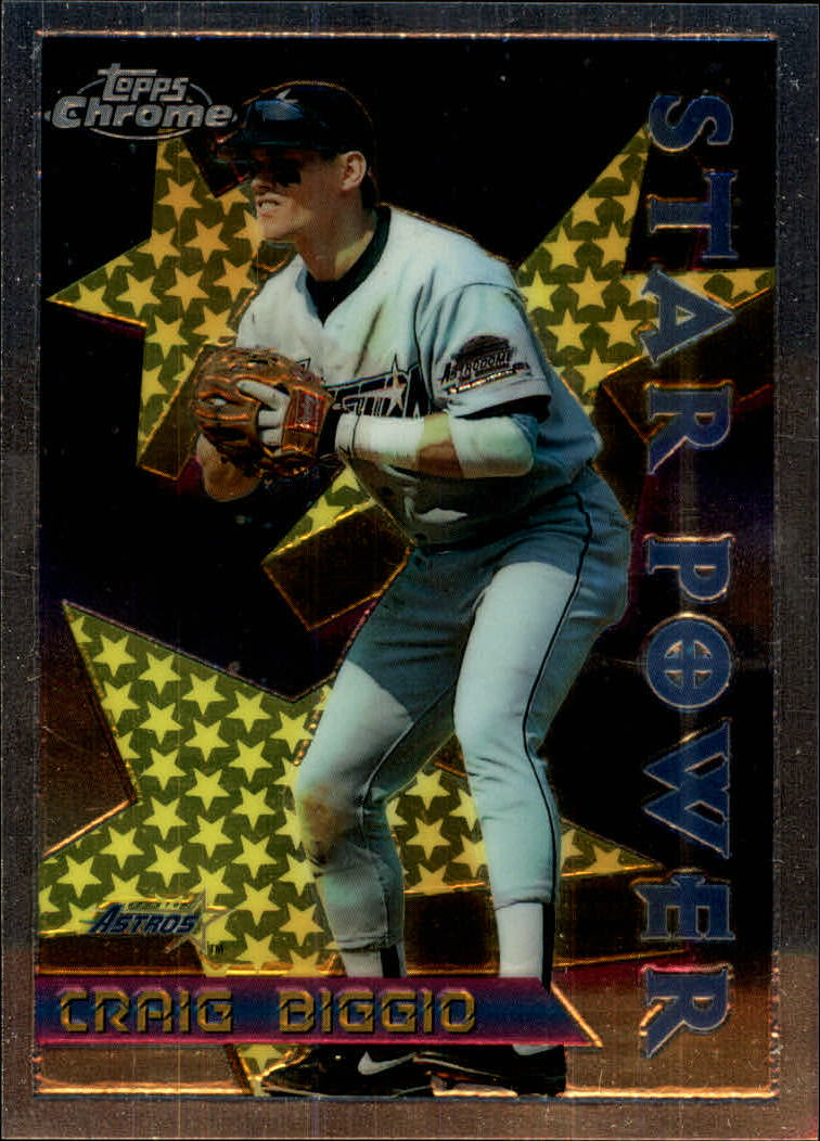 1996 Topps Chrome #9 Craig Biggio STP