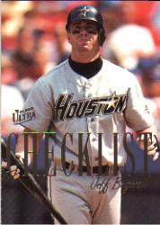 1996 Ultra Checklists #A1 Jeff Bagwell