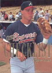 1996 Ultra Checklists #A5 Chipper Jones