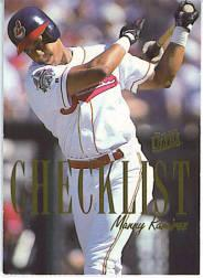 1996 Ultra Checklists #A7 Manny Ramirez