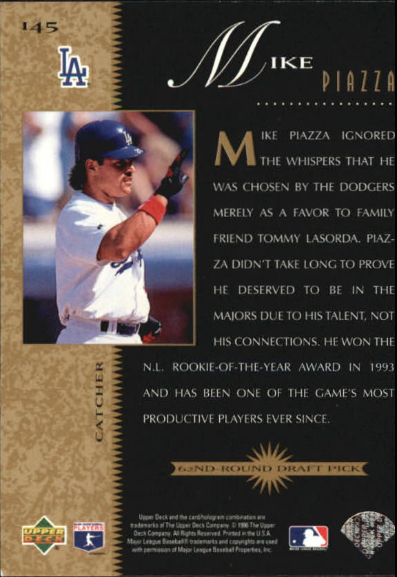 1996 Upper Deck #145 Mike Piazza BO