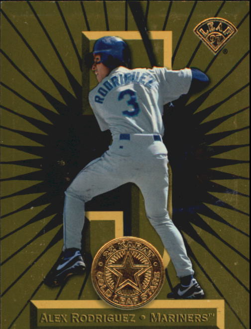 1997 Leaf Gold Stars #2 Alex Rodriguez