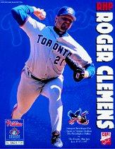 1997 Blue Jays Copi Quik Interleague #1 Roger Clemens