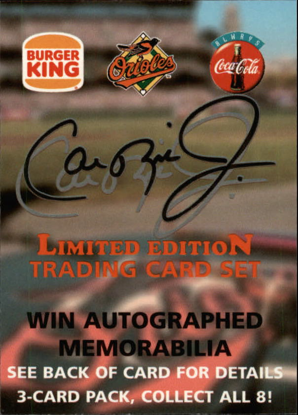 1997 Burger King Ripken #AU Cal Ripken Jr. AU
